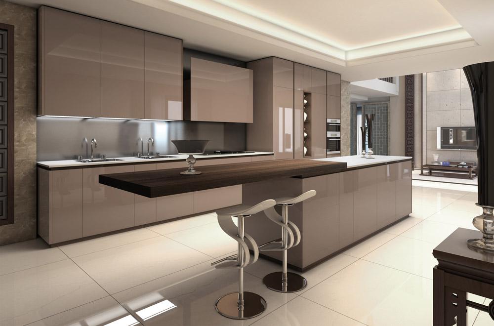 Cucine Moderne Lusso. Cucina Stile Moderno Scandinavo A Forma Di U ...