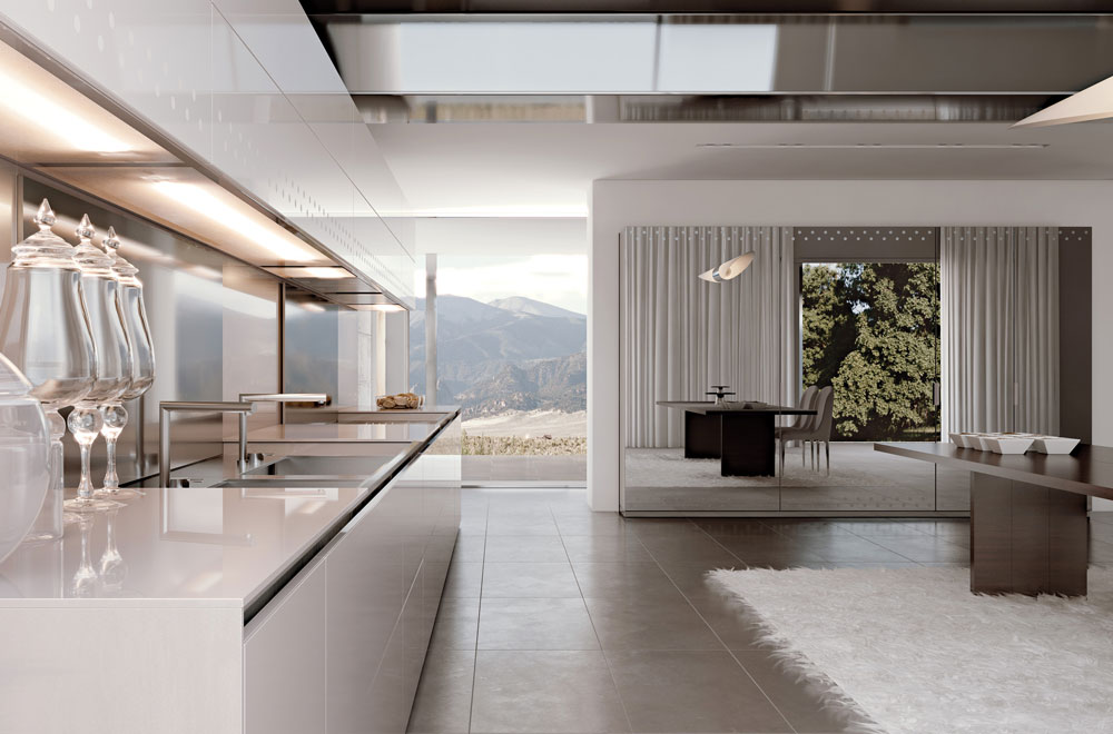 Cucina-luminosa-moderna-elegante - Scic