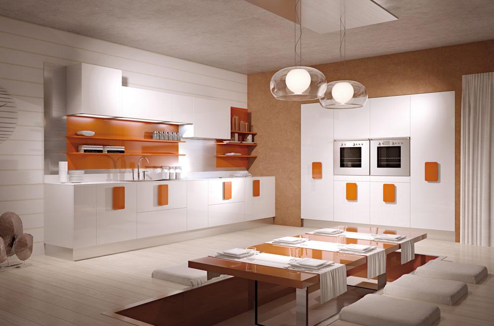 Cucina-moderna-arancione - Scic
