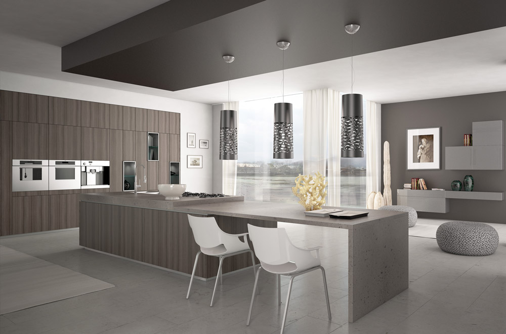 Cucine-eleganti-a-parete - Scic