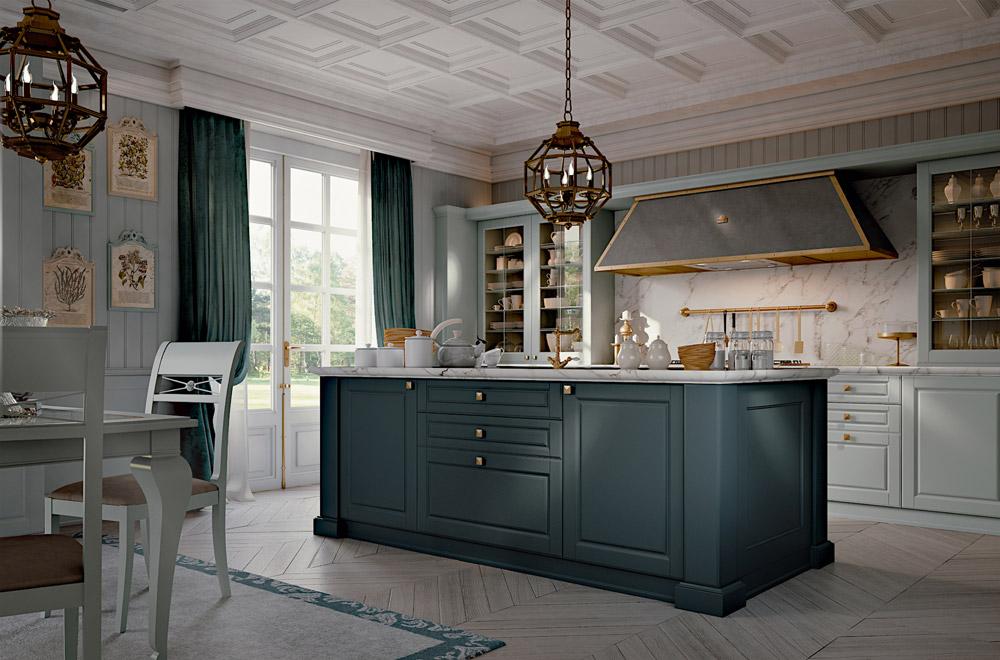 Affordable palatina cucine stile inglese u eleganti con for Piani di casa in stile cottage artigiano