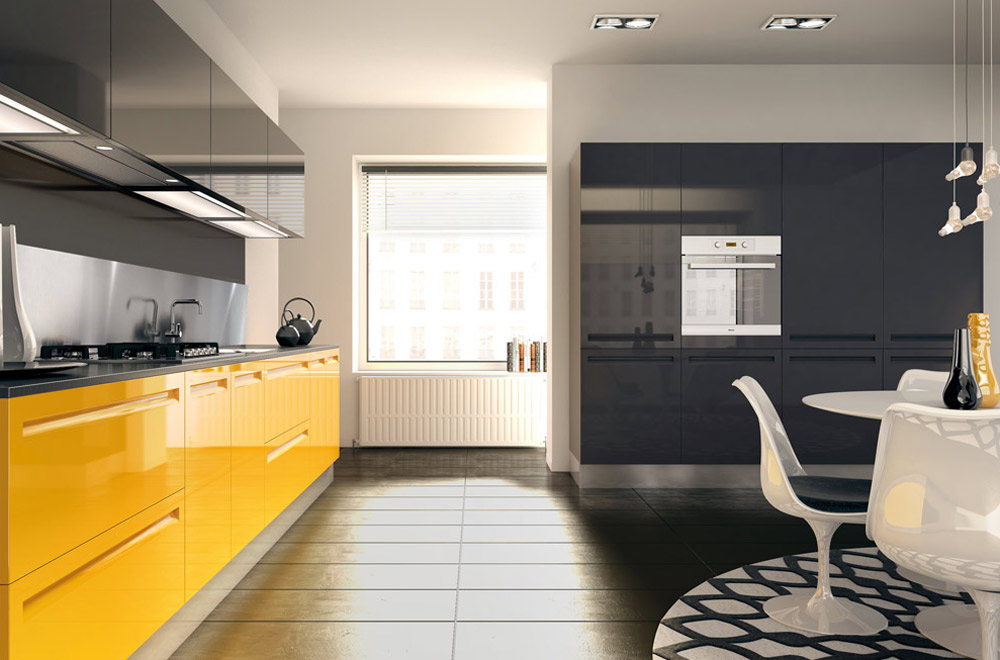 Cucina campiglio lab kitchens collection scic italia - Cucine moderne colorate ...
