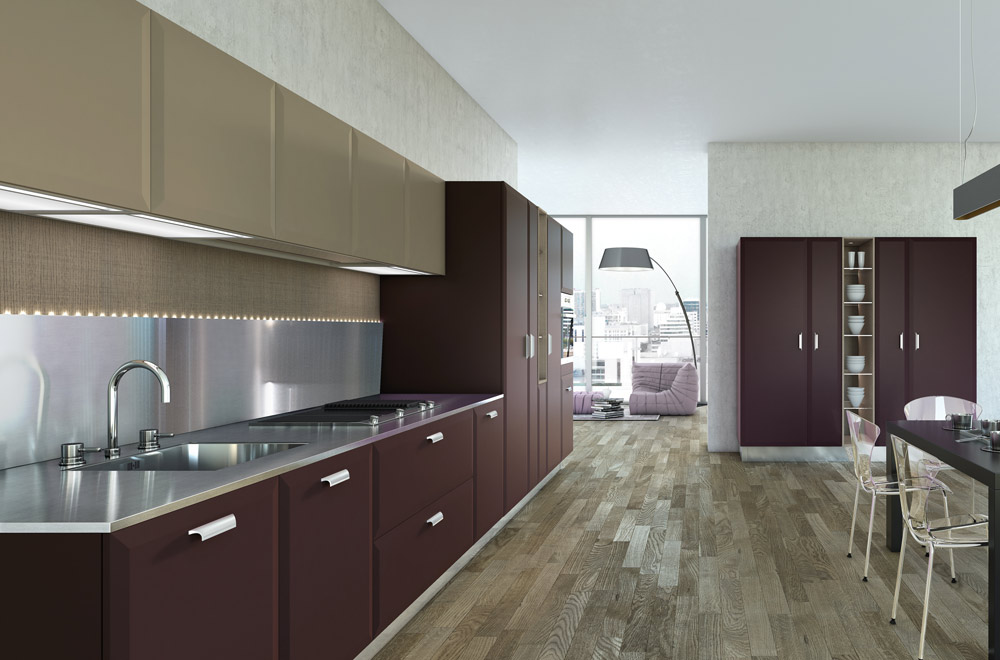 Cucine-stile-contemporaneo-colorate - Scic