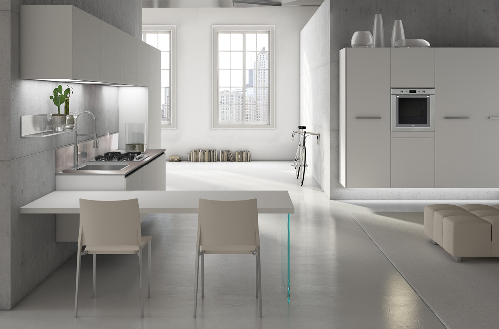 cucine moderne grigie  canlic for ., Disegni interni