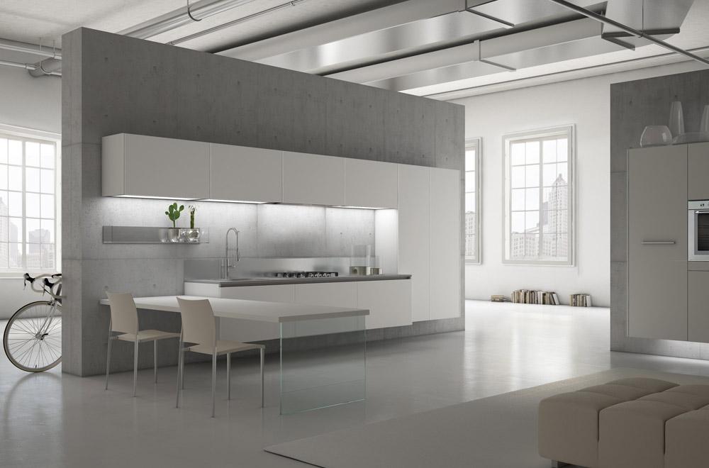 Cucine a parete elegant boiserie with cucine a parete top arredare una cucina bianca foto - Cucine a parete ...
