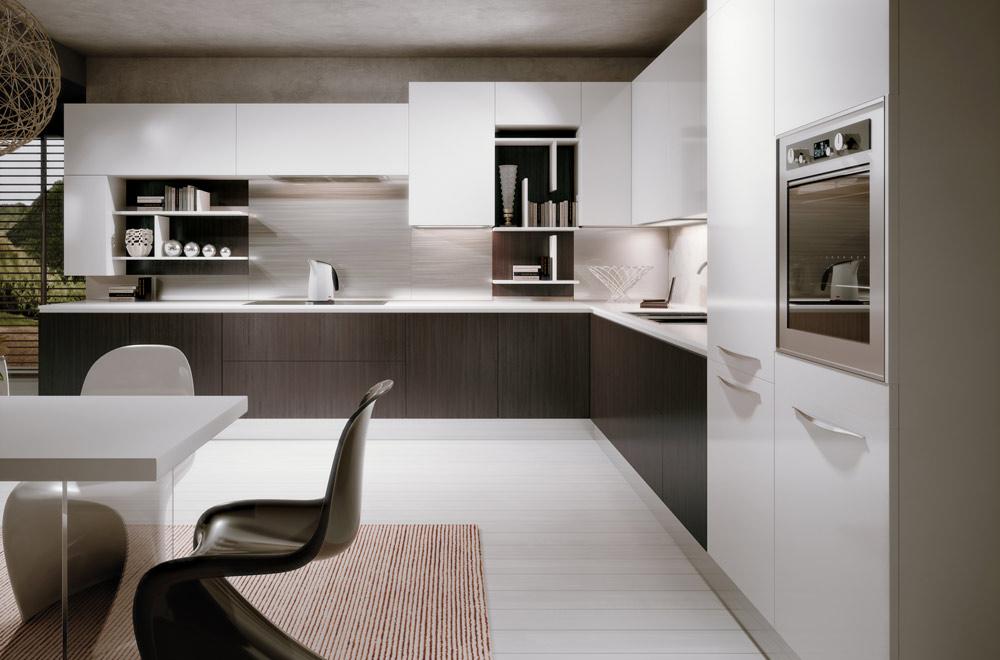 Cucine moderne bianche - Cucina grigio scuro ...