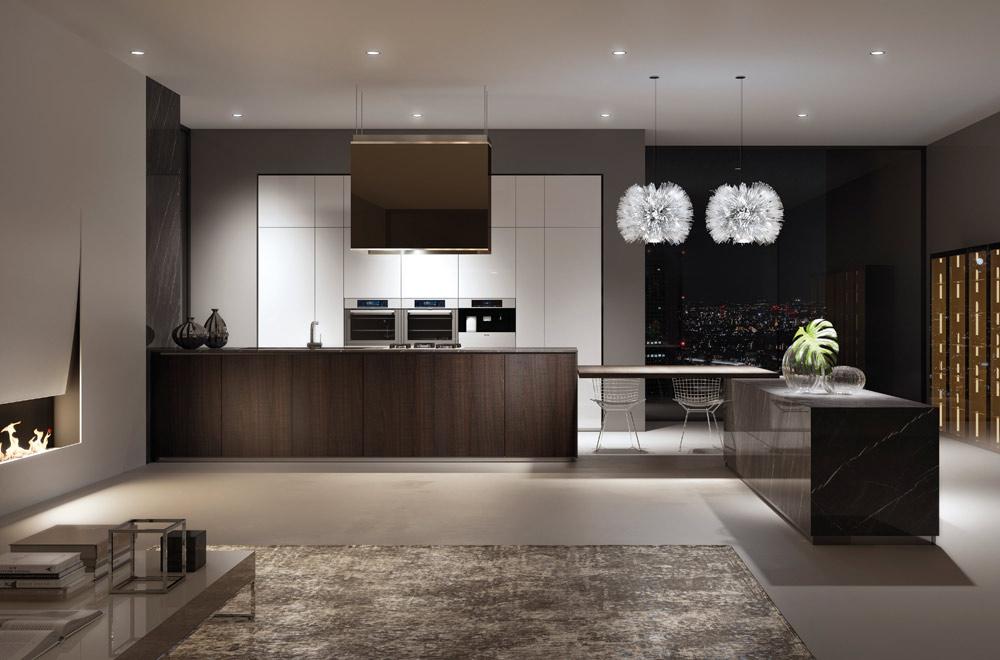 Piccolo soggiorno con la cucina a vista for Soggiorno cucina open space
