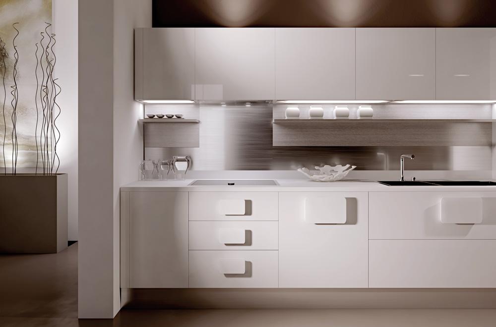 Cucine Moderne Bianche Senza Maniglie ~ Trova le Migliori idee per Mobili e Interni di Design